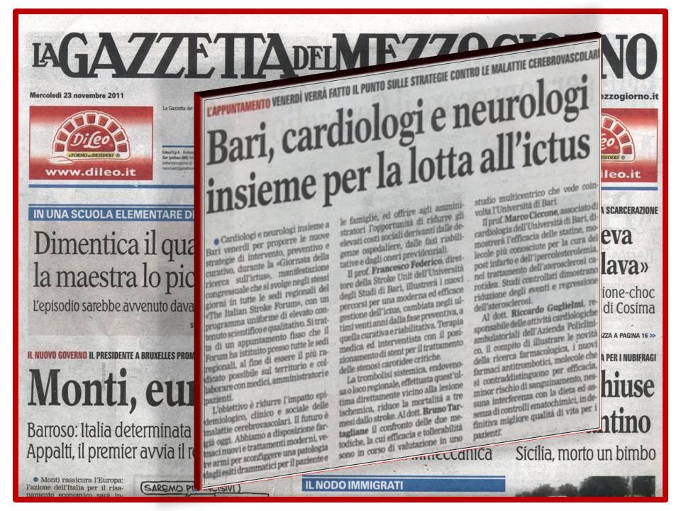 La giornata della ricerca sull'ictus 25 nov. 2011