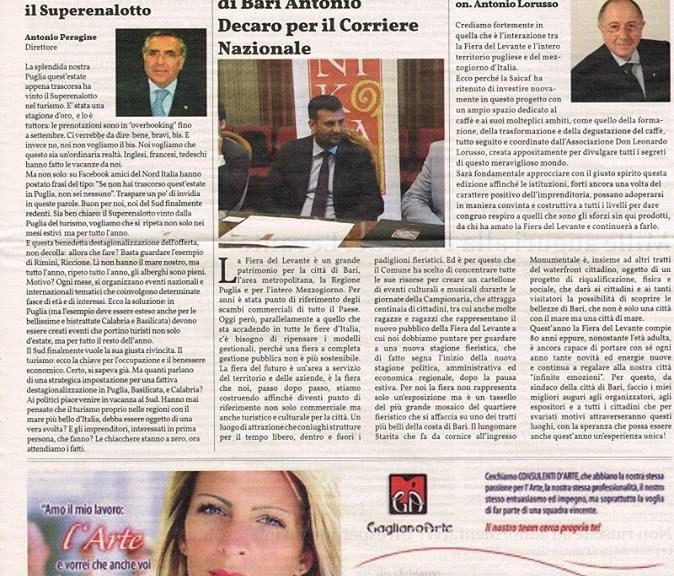 Prima pagina Il Corriere Nazionale Ed.str.cartacea