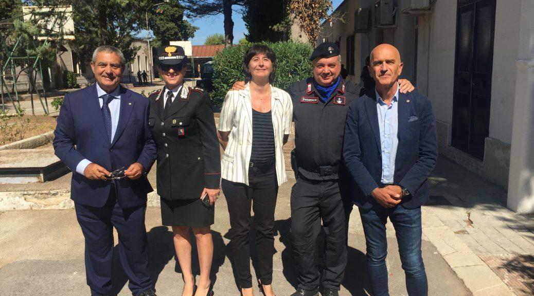 Riccardo Guglielmi - Capitano Angela Cespites - Dott.ssa Sara Lanotte - Magg. Medico Nicola Pansini - Prof. Francesco Fischetti