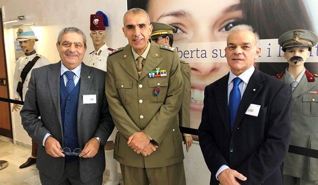 Riccardo Guglielmi con Generale Aldo Sebastiani e Paolo Caradonna