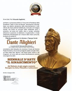 Premio Dante Alighieri a Riccardo Guglielmi